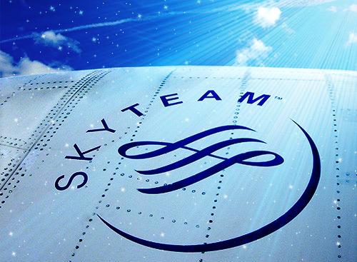 3大アライアンス(航空連合)の1つスカイチーム(Skyteam)